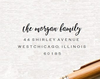 Return Address Stamp, Self Inking Address Stamp, Family Stamp, Custom Address Stamp,Address Stamper, Wedding Stamp, Custom Rubber Stamp (K7)