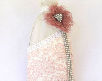 Pink bottle with strass