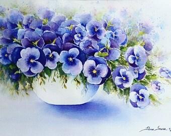 Watercolor, flowers