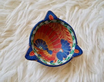 Vintage Painted Bowl || South American Clay Pot