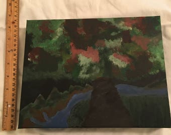 Painting of an abstract tree