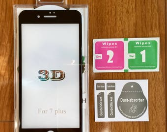 Iphone 7 & 7 Plus 3D Tempered Glass Screen Protector ( Full Body 3D Tempered Glass).