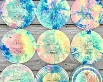 Mint Discs First Run Alphas Custom Dyed by @SokolDiscs
