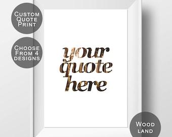 Custom Quote Print - Personalized Quote - Custom Typography - Custom Wall Art - Personalized Print - Custom Wall Decor - Custom Quote Art