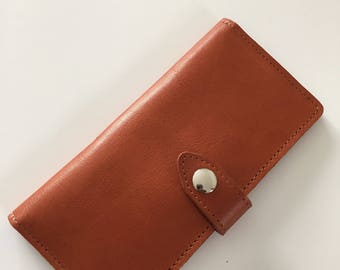 BROWN LEATHER WALLET/Handmade/Women's Wallet/Leather Coin Purse