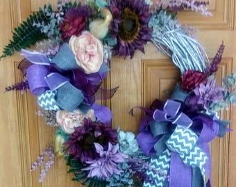 Gorgeous Grey Grapevine Wreath