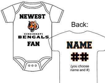 Newest temple owls fan custom made personalized football newest cincinnati benglas fan custom made personalized football gerber onesie jersey you choose name number negle Image collections