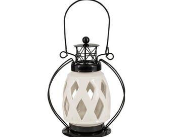 Lighthouse Tea Light Holder by Aufora H 22 x W 14 x D 8.5 cm