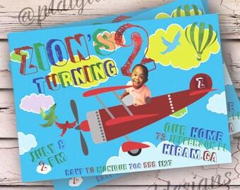 Kids Plane Party Invitation