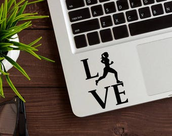 Love Running Decal, Women Running Decal, Love Running Sticker, Yeti Decals, Laptop Stickers, Love Running, Track pad Decals, Macbook Sticker
