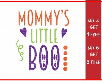 Halloween SVG Mommy's  little boo, mommy to be, cut cutting files, maternity baby announcement, Svg DXF PNG, Cricut Silhouette, baby svg