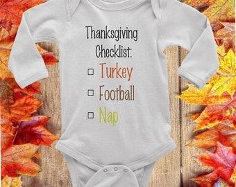 Thanksgiving Onesie - Thanksgiving Shirt - Newborn Onesie - First Thanksgiving - Baby Clothes - Baby Fashion - Fall Onesie - Toddler shirt