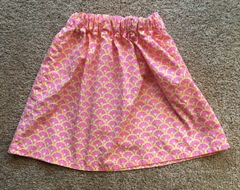 Pink Grapefruit 5T A-line Skirt