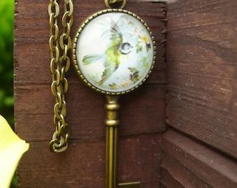 Necklace bronze / chain key / key