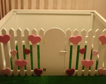 Wood fence for dogs