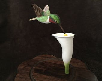 hummingbird : calla lily