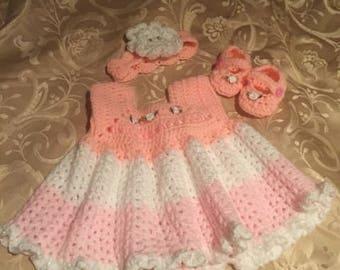 crochet baby girls dress sets
