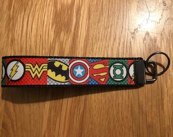 Superhero themed key fob / key chain