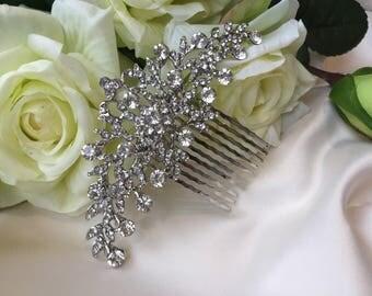 Bridal hair comb, wedding hair comb, wedding hair accessories, bridal hair accessories, crystal hair accessories