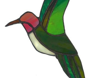 Anna's Hummingbird Stained Glass