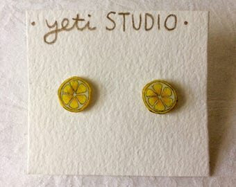 Unique Citrus Earrings