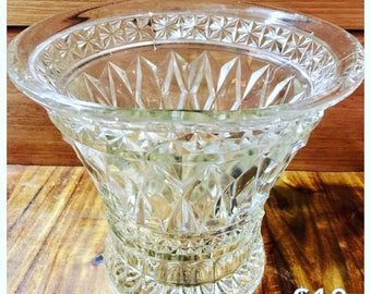 Vintage, cut glass, vase
