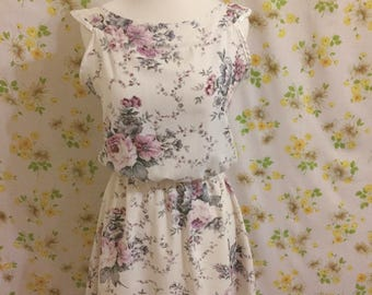 Handmade Floral Day Dress