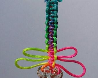 Dragonfly / Macrame / Neon / Handmade / Keychain