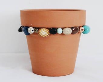 Boho Beaded Flower Pot
