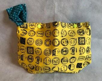 Handmade stamp/ travel themed bag