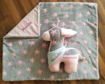 Musical Giraffe Animal pillow with name Pillow 40 cm