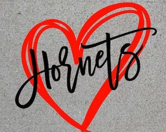 Hornets Heart SVG