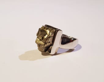 Pyrite & Silver Ring