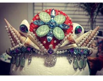 Kids Mermaid Crown! This exact one is not available, but message me and we can get started on a personal one just for you!
