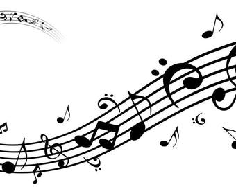 MUSIC NOTES wall decal for home