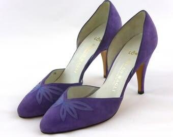 Vintage Bruno Magli Suede High Heels, Court Shoes, Pumps, Excellent Condition, Lavender, Lilac, Purple