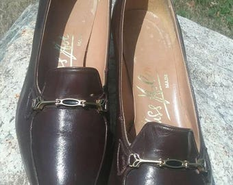 VTG 1960s Leather Heeled Loafers