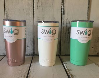 Personalized 20 oz Swig Tumbler, Swig Tumbler, Custum Swig Tumbler, Stainless Steel Tumbler, Swig Tumbler with Lid