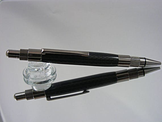 2mm Mechanical Pencil in Gun Metal and Carbon Fiber