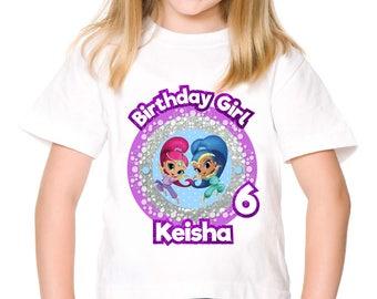 Personalized Shimmer and Shine Genies Tee Shirt Tshirt Shirt Iron On Transfer Shirt Image Purple Printable DIY - Digital File