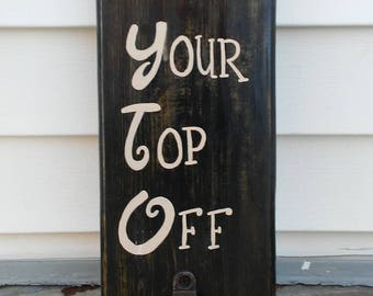 Wood sign with bottle opener