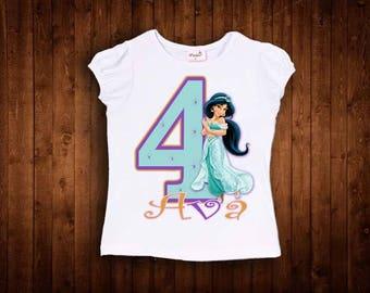 inspired by princess jasmine birthday shirt