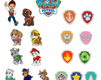 Pow patrol Svg/Eps/Png/Jpg/Cliparts,Printable, Silhouette and Cricut File !!!