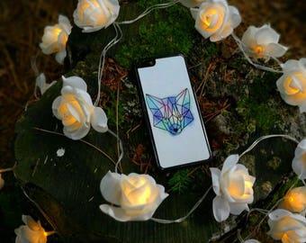 Opal Fox Phone Case