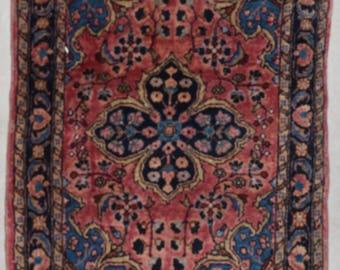 Antique Persian Sarouk Oriental Rug #7705 2'x3'