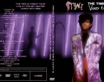 Prince 1999 Tour 6 dvdr set featuring The Time and Vanity 6