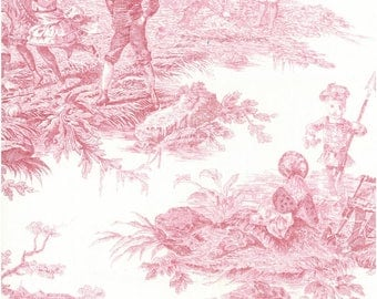 """French toile de jouy 44 /m made 280cm Thévenon """"history of water"""""""
