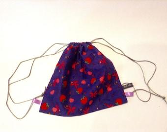 Backpack child bag snack or purple blanket