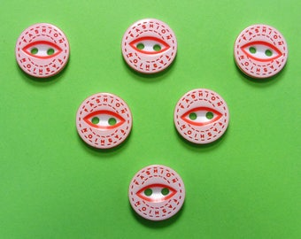 LOT 6 buttons: round fancy 12mm (02) pattern