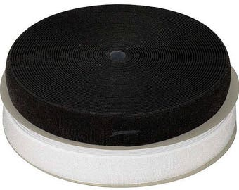 Ribbon band SCRATCH VELCRO sew - 38 mm - by the yard - white or black new